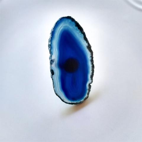 Anillo laja ágata azul