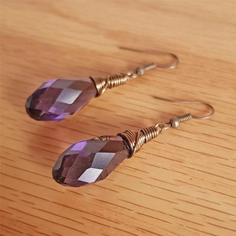 Aretes gotas de cristal