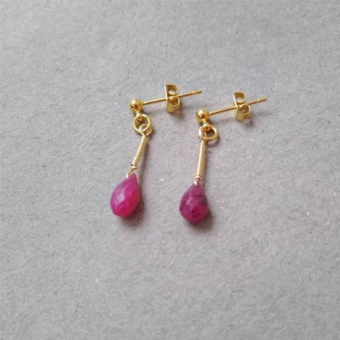 Aretes con rubíes