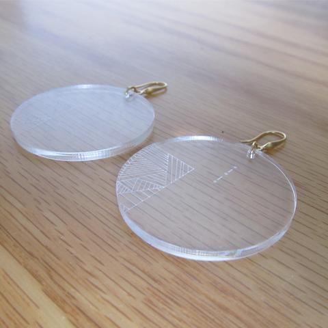 Aretes círculo minimalista