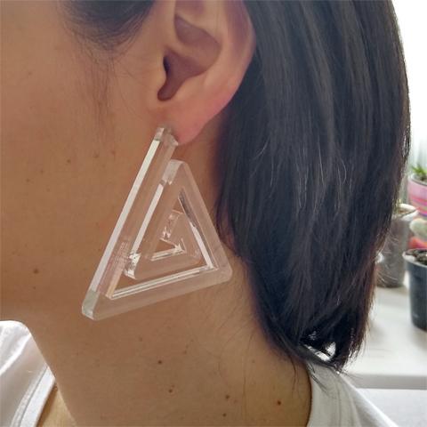 Aretes espiral triángulo grande