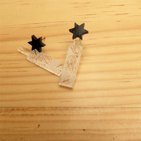 Ear Jackets con estrellas
