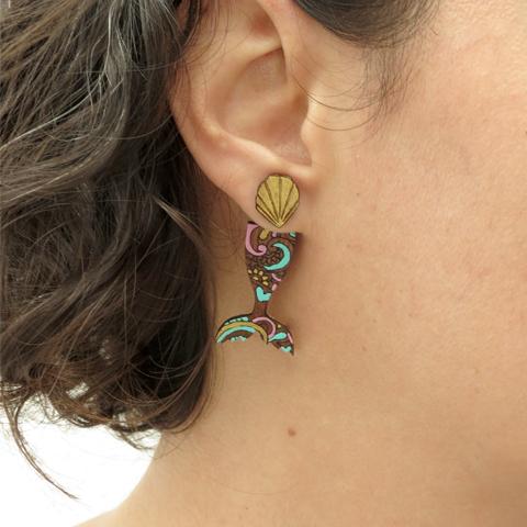 Ear Jackets cola de sirena