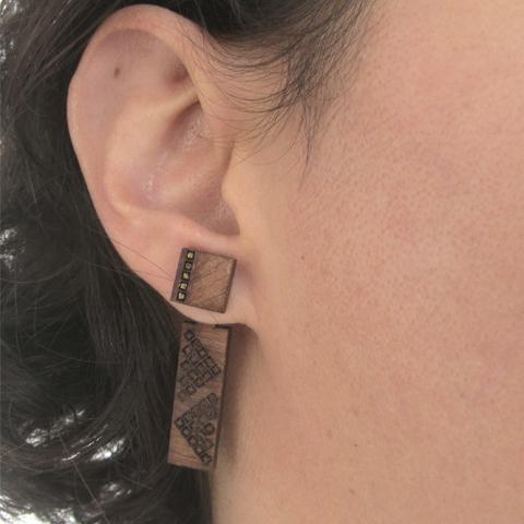 Ear Jackets cuadrados básicos