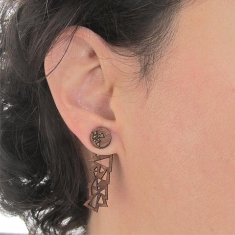 Ear Jackets triángulos básicos