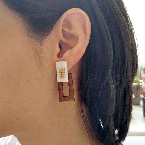 Ear jackets rectángulos